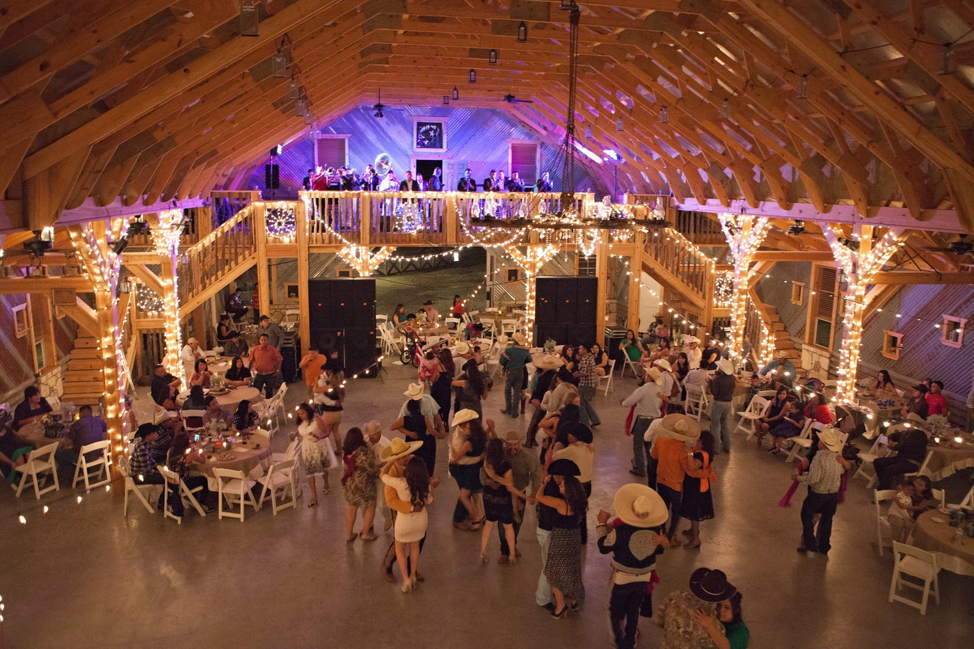 interior of barn wedding